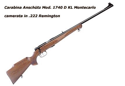 carabina camerata con cartuccia .222 Remington