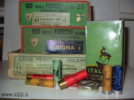 polvere da sparo e munizioni