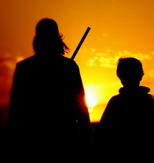 caccia futuro cacciatore padre figlio