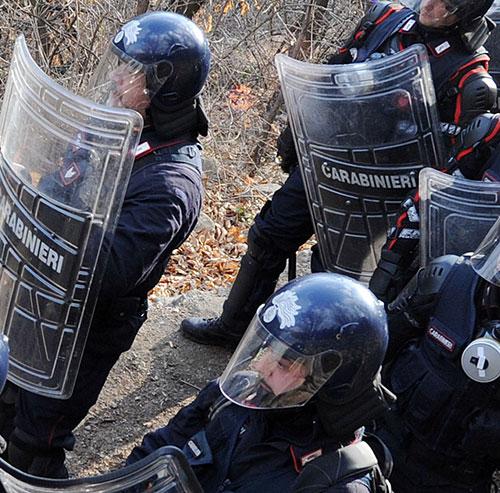 animalisti palio oca carabinieri caccia