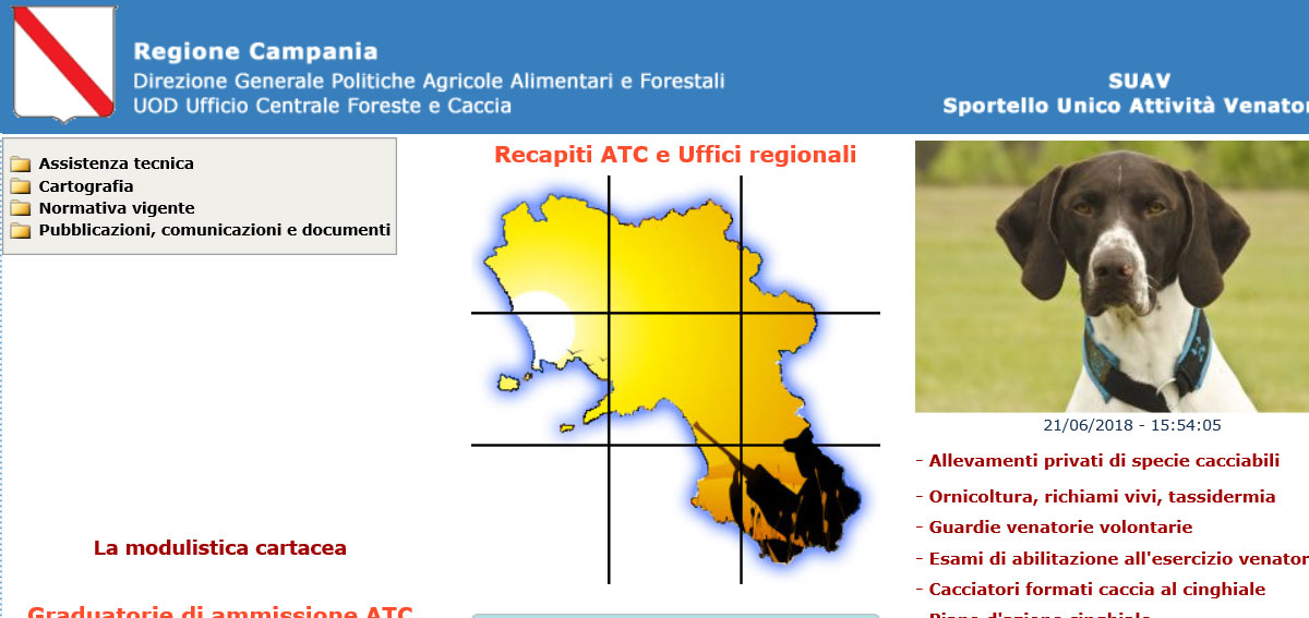 Campania Caccia Calendario Venatorio.Calendario Venatorio Campania 2018 2019 Caccia In Fiera