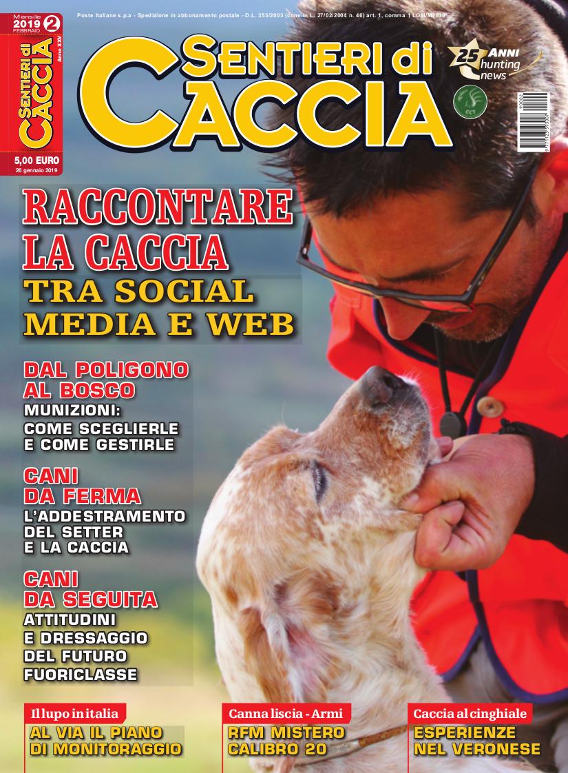 rivista sentieri di caccia febbraio 2019