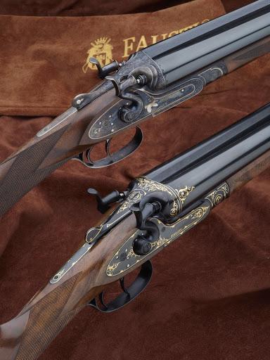 fucile a due cacce doppietta da caccia giustapposto cani esterni hammerles